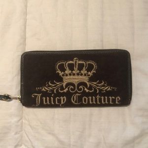 Authentic Juicy Couture zip around wallet